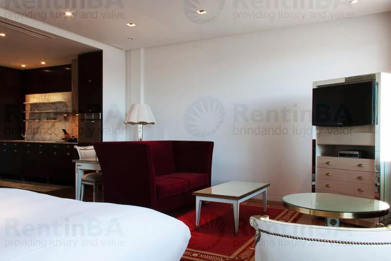 Maroon, White & Aquamarine Tones on a Base of Wood and Marble (ID#575) - Image 1 - Buenos Aires - rentals