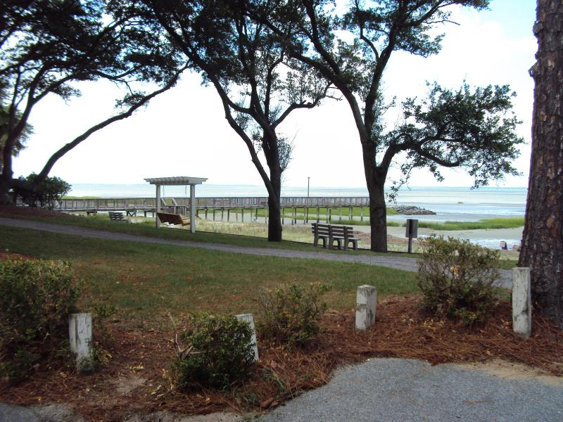 Ocean View from end of Condo Building - Butterfly Condo - Hilton Head - rentals