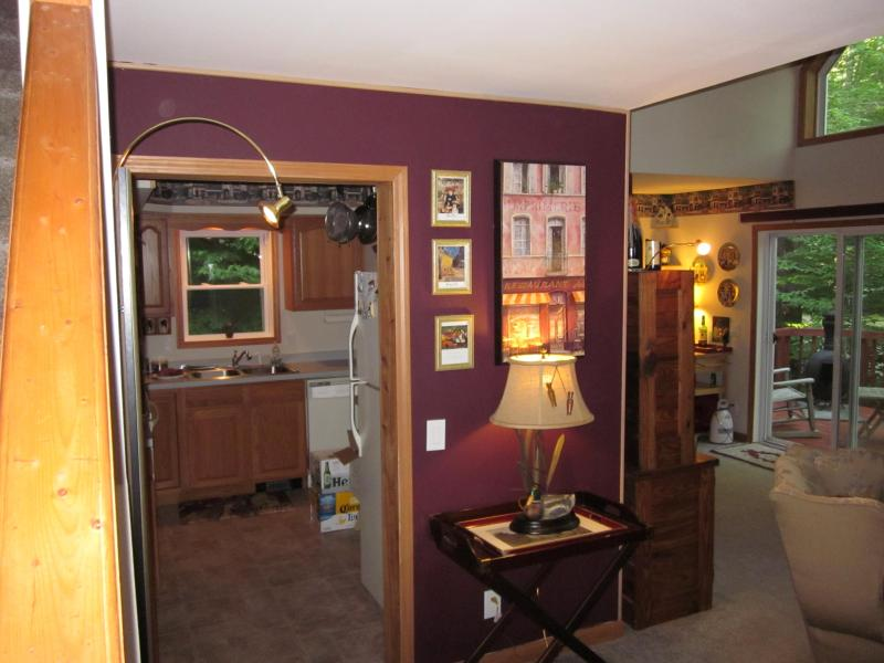 Living Room/Dinning Area and Kitchen - Charming Chalet in the Poconos - Pocono Lake - rentals