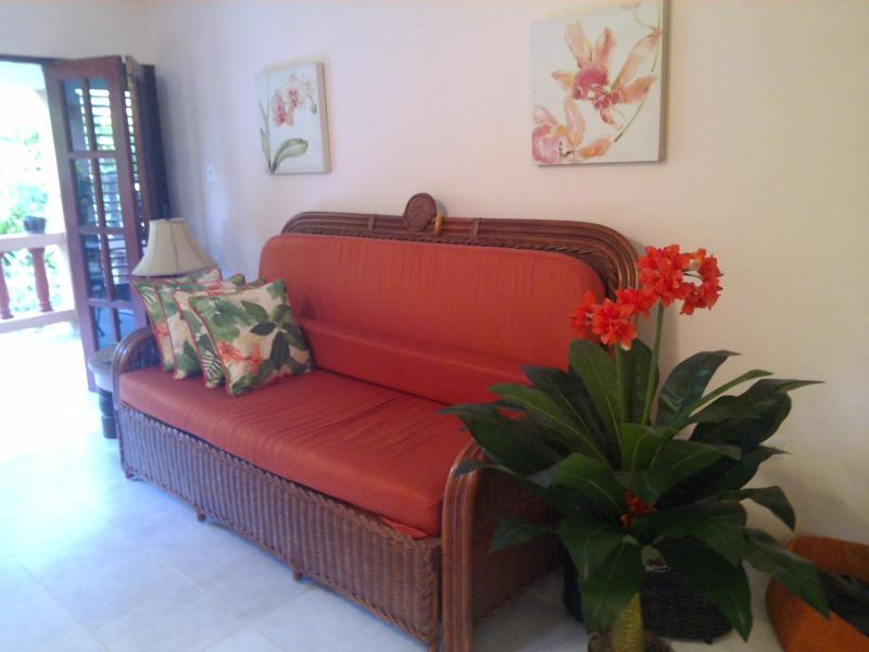 Living room! - Beautiful Condo in Cabarete, Oceanfront Complex - Cabarete - rentals
