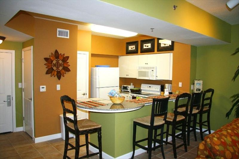 Kitchen area - 2 Bedroom with Huge Gulfside Pool and Views 1616 - Panama City Beach - rentals