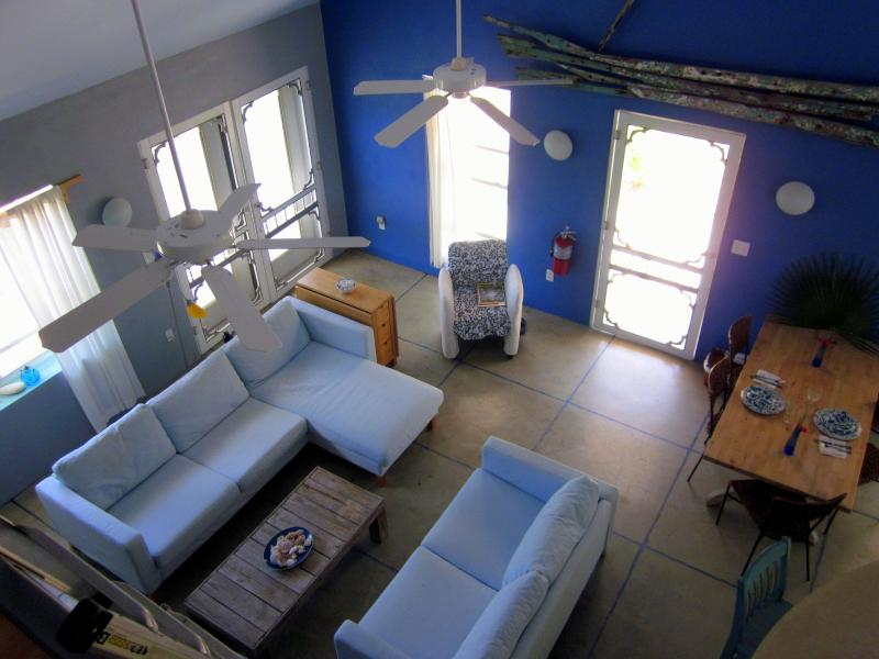 Bird eye view of living rioom - Wash-a-Shore is away from it all and close to everything - Cayman Brac - rentals