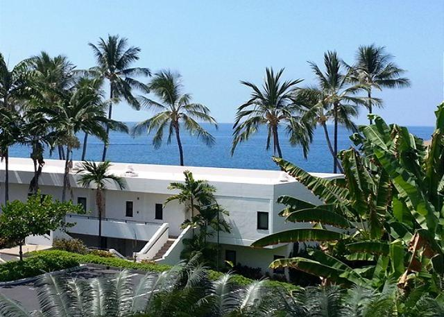 View from Lanai - Paradise Found! Rare Oceanview Royal Sea Cliff Studio condo--Just renovated-RSC 429 - Kailua-Kona - rentals