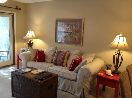 Living area - Summer Beach Resort Sailmaker 407 - Amelia Island - rentals
