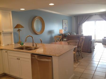 Kitchen, dining and living areas (from entryway) - Sea Dunes 1653 - Amelia Island - rentals