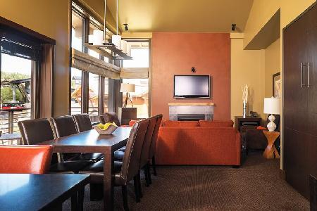 Scenic view Hotel Terra Two Bedroom Suite with Ski-in/ski out & jacuzzi - Image 1 - Teton Village - rentals
