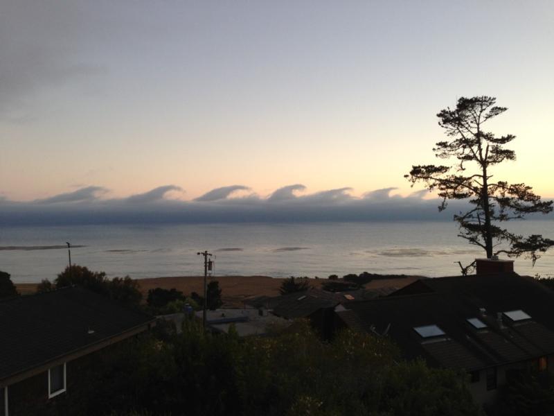 View of amazing clouds from the deck - August 2015 now available! - Cambria - rentals