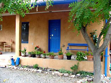 Facade and front porch - Stay In An Historic Adobe For Less! - Santa Fe - rentals