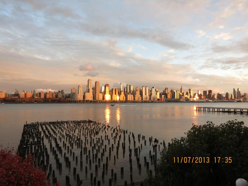 View From the Balcony - SUPER BOWL RENTAL - Gorgeous Waterfront Condo With - West New York - rentals
