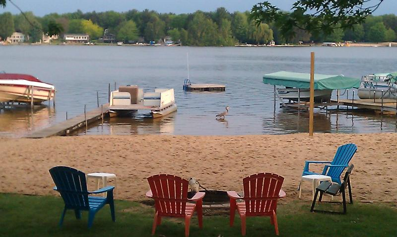 Your own private beach, with an additional association lot beach next door. - Upper Silver Lake Private Beach Front. - Mears - rentals