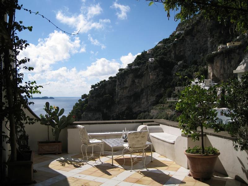 view from the terrace - Casa Bellevue, luxury house in Positano center - Positano - rentals