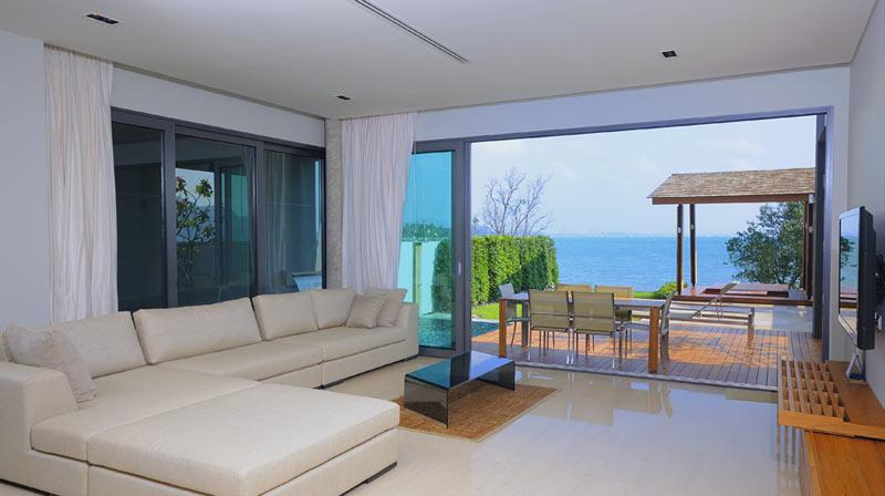 Living room overlooking the sea - Luxurious Beachfront Villa Phuket - Rawai - rentals