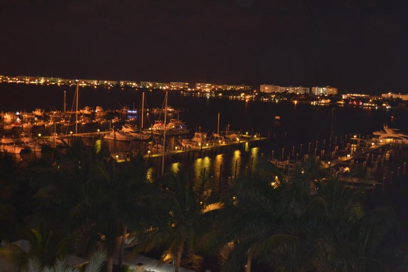 Night View From Balcony - Penthouse Overlooking Intracoastal and Pool - Lantana - rentals