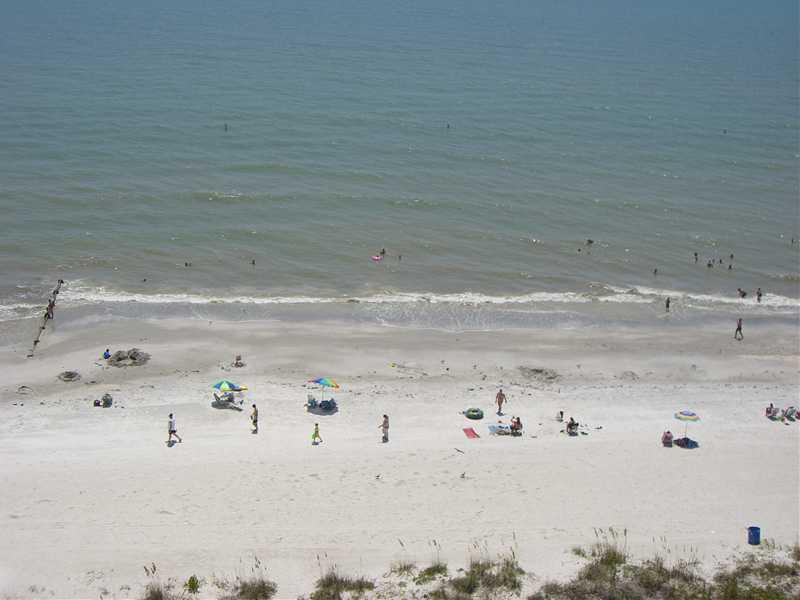 View of beach from balcony - Beautiful Updated Beachfront 2BR/2BA Condo - Madeira Beach - rentals