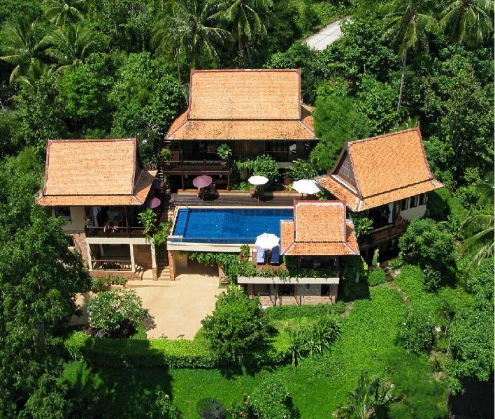 Villa Aerial View - Thai style villa with amazing Ocean Views - Koh Samui - rentals