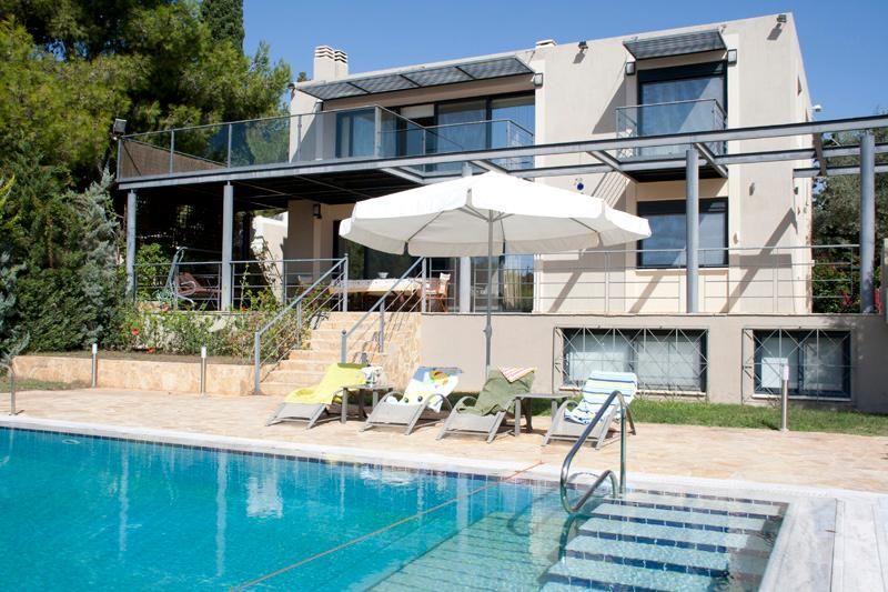 Astonishing Villa with Pvt Pool next to the beach - Image 1 - Lagonisi - rentals