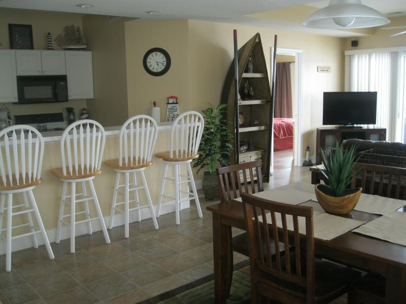 Inviting view from front door. Comfortable, clean and feels like home away from home. - Lakefront Condo, 3BR, Fantastic View, heated pools - Lake Ozark - rentals