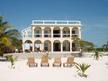 Exterior Caribbean Ocean face of Villa Incommunicada - Villa Incommunicada Luxury Home W/Pvt Pool Manager - San Pedro - rentals