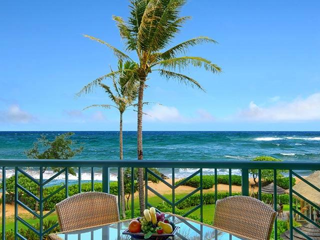 Oceanfront from Lanai - Waipouli Beach Resort A302 - Kapaa - rentals