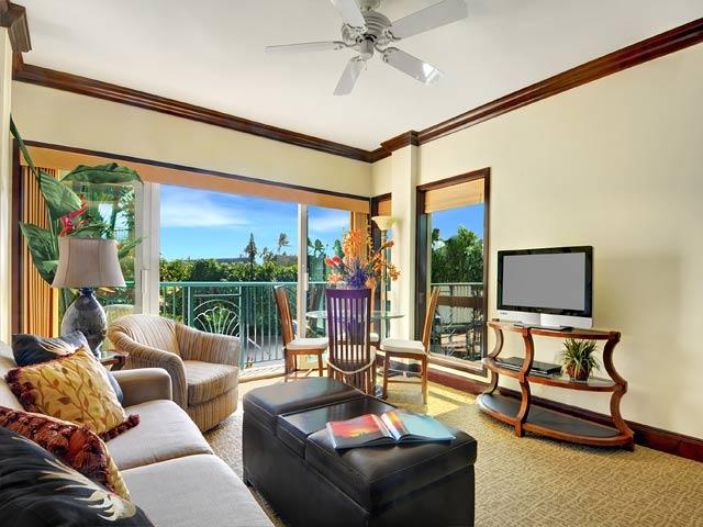 Living Room - Waipouli Beach Resort F201 - Kapaa - rentals