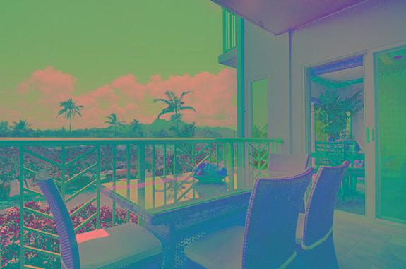 E303 Sleeping Giant View while dining on Covered Lanai - Waipouli Beach Resort E303 - Kapaa - rentals