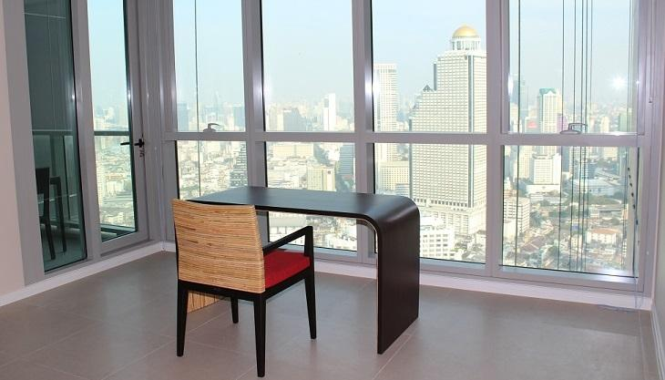 View across the river (Shangri-la hotel) east wards - The RIVER condominium - 3/4 BR penthouse, unique! - Bangkok - rentals