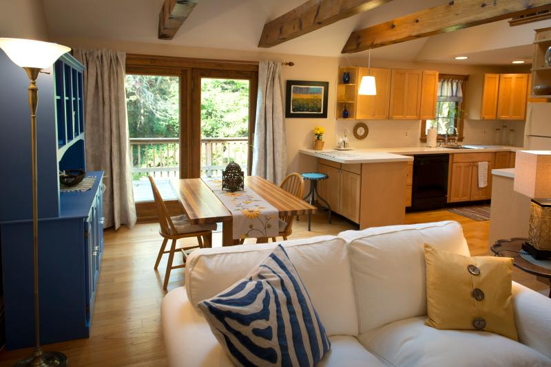 "Welcome to Settling Inn. Open living room with exposed wooden beams - ""Settling Inn""  to a Great Place - Plymouth - rentals"