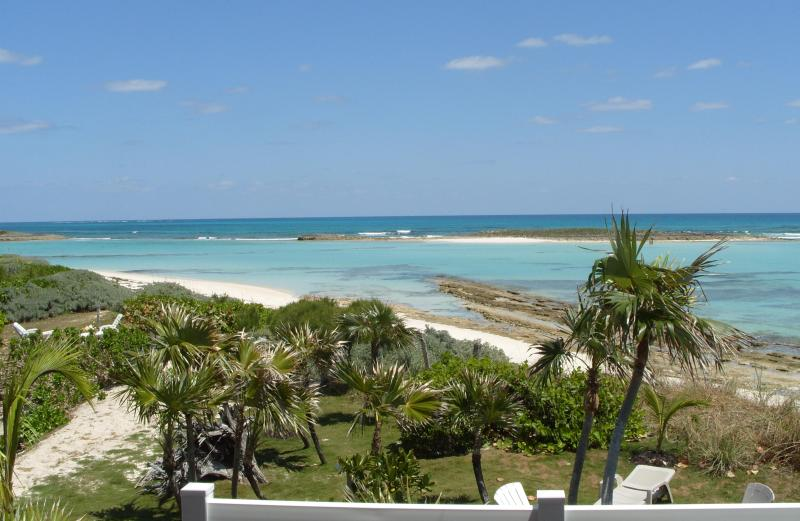 View from the front porch. - CORAL SANDS BEACH HOUSE ON THE OCEAN, GREEN TURTLE - Green Turtle Cay - rentals