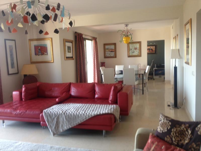 Living Room - Capanes Del Golf Penthouse - Benahavis - rentals