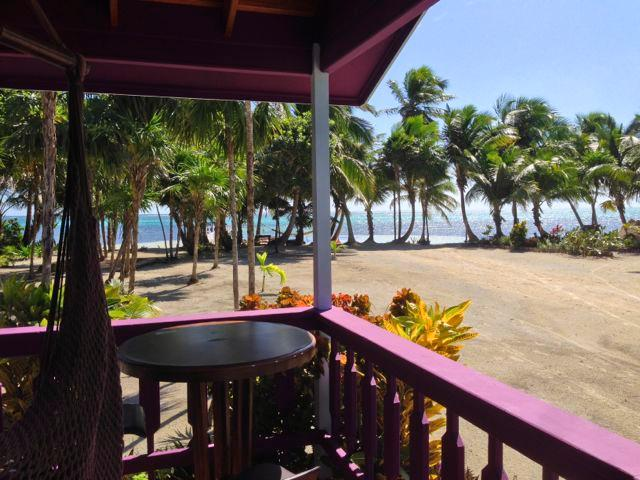 Looking at the Caribbean from your porch. - Turtle Beach Cottage 1 - San Pedro - rentals