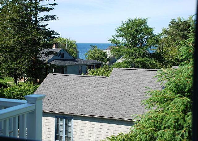 View of Ocean from Master Bedroom Balcony - Caleb's Beach House: Walk to beach and village of Rockport - Rockport - rentals