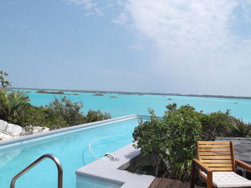 view of pool overlooking Chalk Sound - Chalk Sound Villa with Amazing Views, Private Cove - Providenciales - rentals