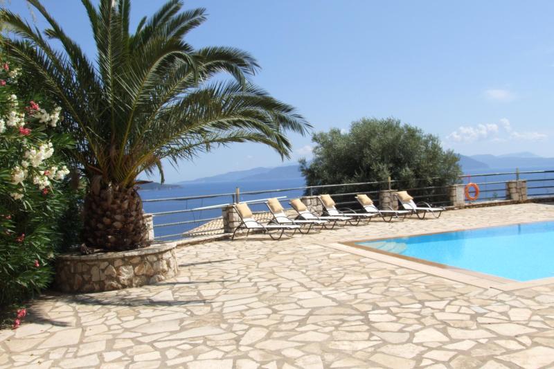Pool view - Sapphire Villa stunning sea views Sivota, Lefkada - Vasiliki - rentals