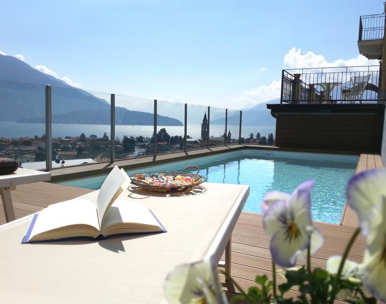 The pool with the view of the Lake Como - Villa Perla del Lago - Penthouse - Vercana - rentals