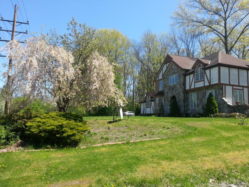 Front Lawn and The house - Tudor House in Delaware Water GAP PA - East Stroudsburg - rentals
