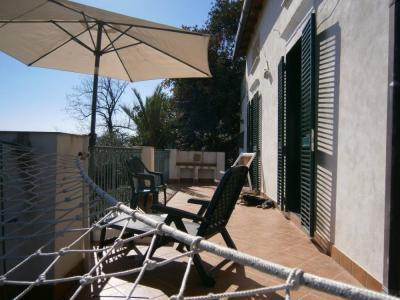 The front terrace - I Tre Alberi - House of the Palm Tree - Giardini Naxos - rentals