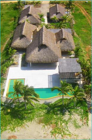 Overhead view of property - Gorgeous Beach House & Lap Pool-Hola Ola - Puerto Escondido - rentals
