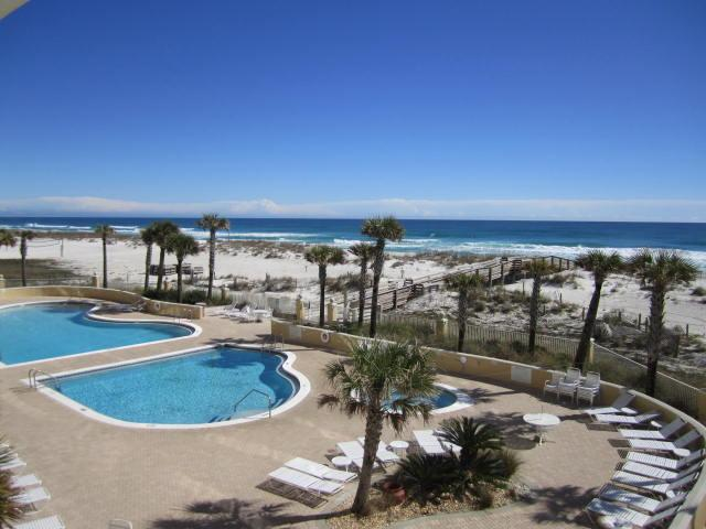 View from the balcony -living room - Spectacular 3 Br Emerald Isle Gulf Front - Beautifully Furnished - Pensacola Beach - rentals