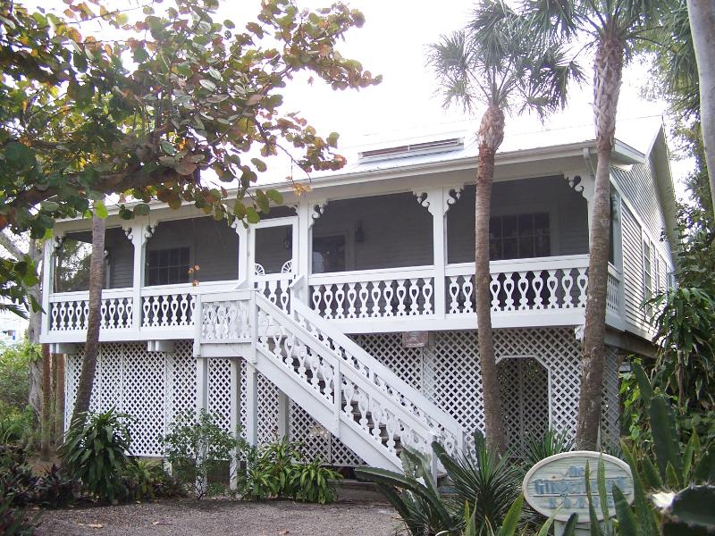 Exterior Front - Nestled in Tropical Vegetation, Steps to the Beach - Captiva Island - rentals