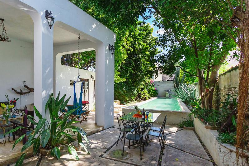 Your stay at Casa Lala begins with your own private lap pool - Dreamy lap pool in downtown locale - Merida - rentals