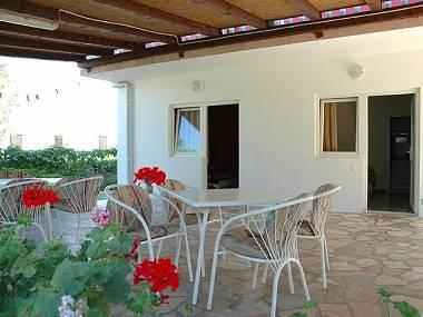 SA7(3)Plavi: common terrace - 34283  SA7(3)Plavi - Vir - Vir - rentals