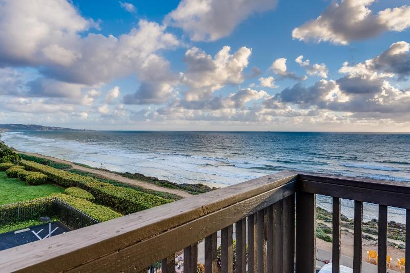 VIEW FROM THE CORNER BEDROOM - $199 IN FEB!  Modern Oceanfront View Penthouse - Del Mar - rentals