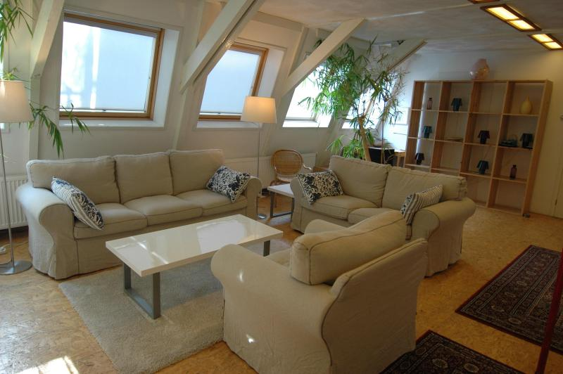 Quiet Loft in Centre, 2-bedrooms, direct bus from Airport, free WIFI - Image 1 - Amsterdam - rentals