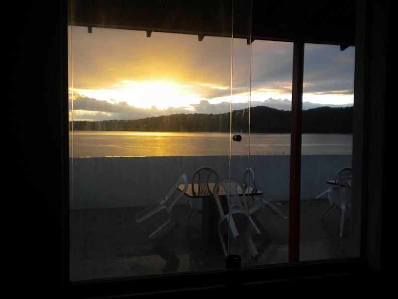 Por do sol visto da sala - Linda cobertura no paraiso de Cações com internet - Jaguaripe - rentals