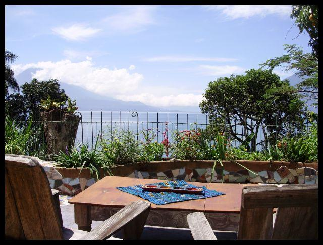 View from terrace - great for morning coffee and sunset cocktails - 2-bed House in Santa Cruz - Santa Cruz La Laguna - rentals