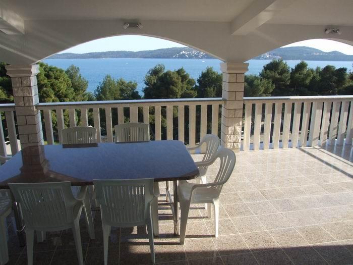 Sea-view from large terrace - Comfortable  app  A3 (6+1) in Seget Donji,  Trogir - Seget Donji-Vranjic - rentals
