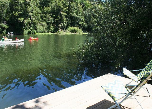 "Your personal dock! Jump in...the water's fine!! - ""Riverlands"" Riverfront Home,Best Area on the River! Private Dock! HOT TUB! - Guerneville - rentals"