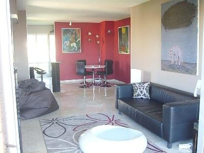 Living room - Luxury, calm, spectacular mountain view for this elegant sunny apartment 4 beds - Nice - rentals