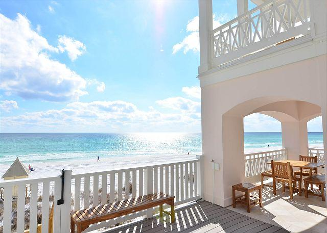 In Ground Gulf Front Pool Patio - PINK PEARL-GULF FRONT LUXURY,PRIVATE POOL+BEACH,SEASONAL BEACH SERVICE!! - Miramar Beach - rentals