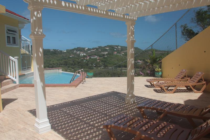 Infinity pool deck with golf course views - South Sea House Apt 3 - Luxurious But Great Value 2 Bed Apt in Cap Estate W/Private Plunge Pool & Ocean Views - Cap Estate, Gros Islet - rentals